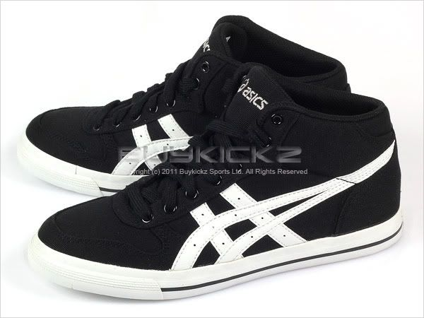 details about asics aaron mt cv black  white canvas classic 2011 mid