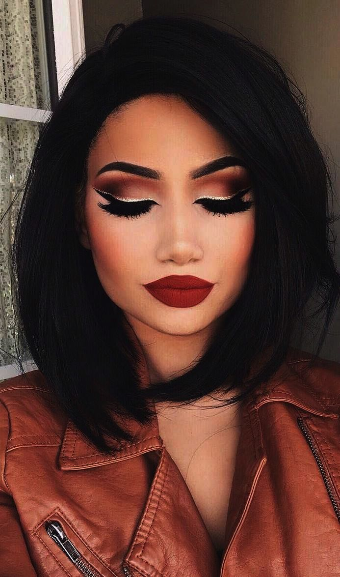 Beautiful Eye Makeup Brown Eyes Smokey Eye Makeup Red Dress Prom