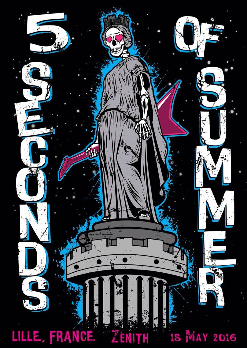5sos poster design - Lille S Limited Edition Slfl Poster