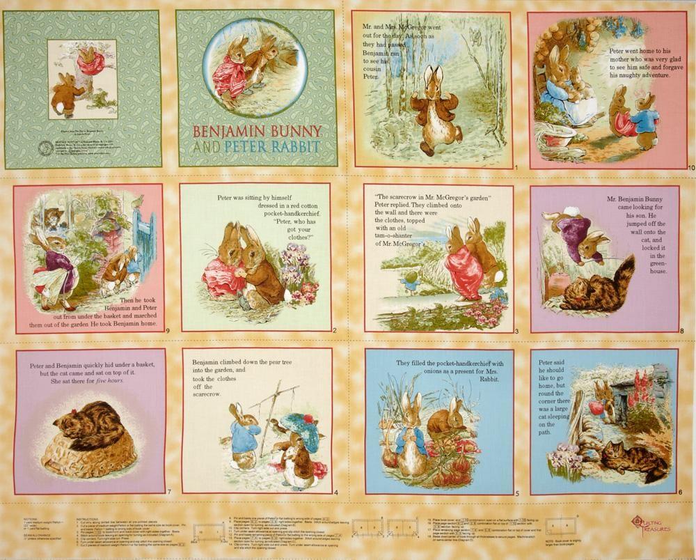 Beatrix Potter Benjamin Bunny Soft Book Panel Honey - Discount ...