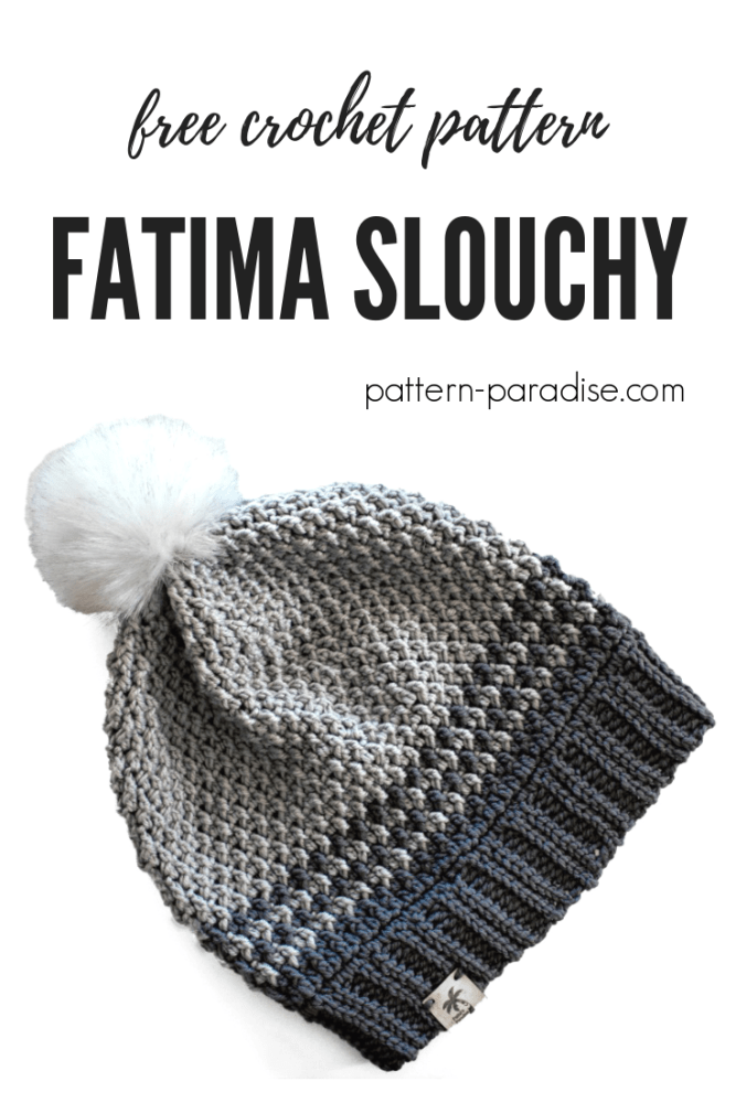 Free Crochet Pattern: Fatima Slouchy | Stiches | Pinterest | Gorros ...