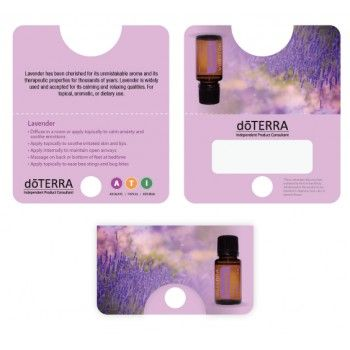 Lavender Sample Cards  Doterra    Lavender And Doterra