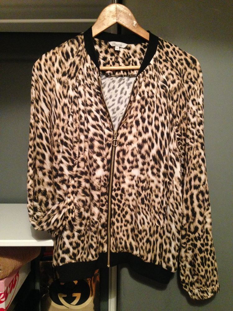 Leopard bomber jacket uk
