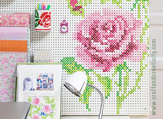 9 Ways To Get On Board With Pegboard Painted Pegboard Crafts