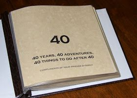 Sometimes Creative 40th Birthday Bucket List Scrapbook gifts