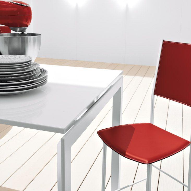 cattelan italia ausziehbarer esstisch monday wei kaufen. Black Bedroom Furniture Sets. Home Design Ideas
