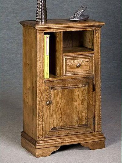 This Delightful Solid Oak Telephone Table Cupboard With Its Useful Storage Compartments Would Certainly