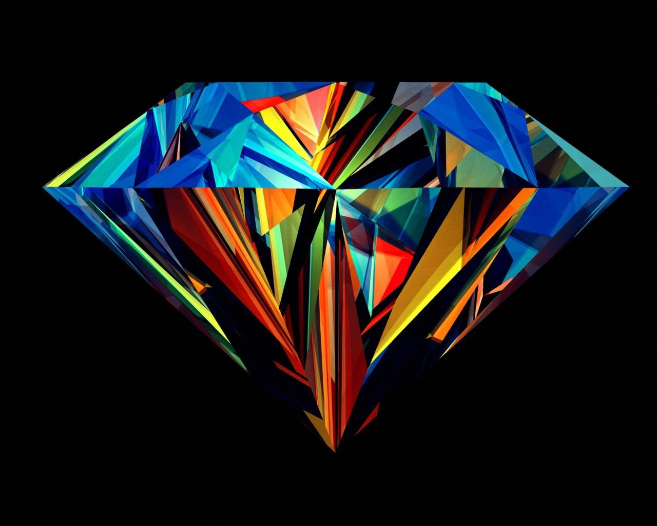 Abstract Colorful Diamond Wallpaper 3d Best Free Hd Images Com