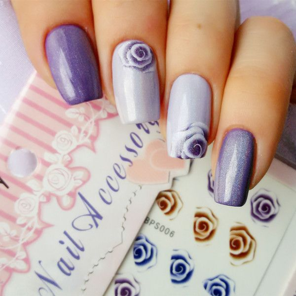 1sheet nail art water decals nail stickers water transfer sticker charming fantastic rose diy stickers pattern