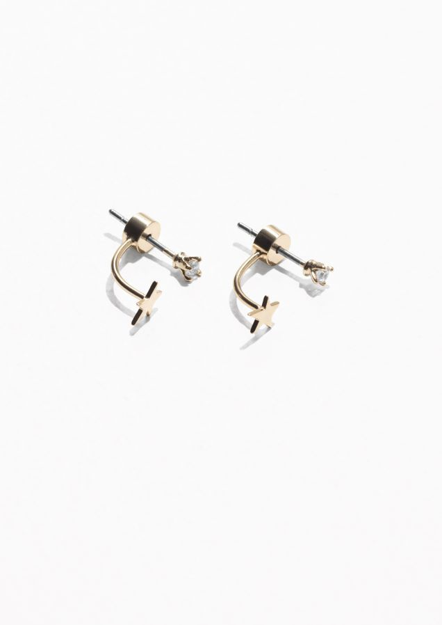 e40f0bc78 & Other Stories Drop Back Starlet Earrings in Gold   Home& Style ...
