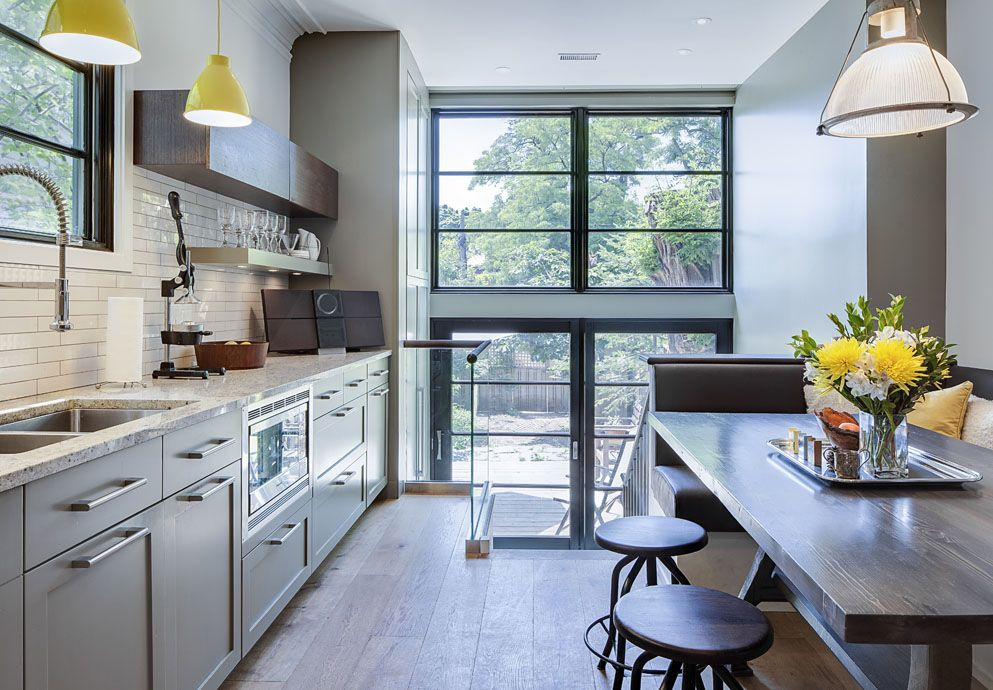 Contemporary Renovated Kitchen In Old Victorian House Idesignarch Interior Design Architecture Interior Decorating Emagazine Kitchen Remodel Small Kitchen Design Industrial Kitchen Design
