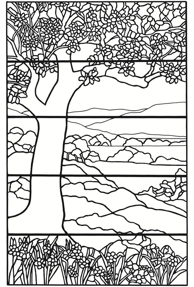 Creative Haven Tiffany Designs Stained Glass Coloring Book Welcome ...