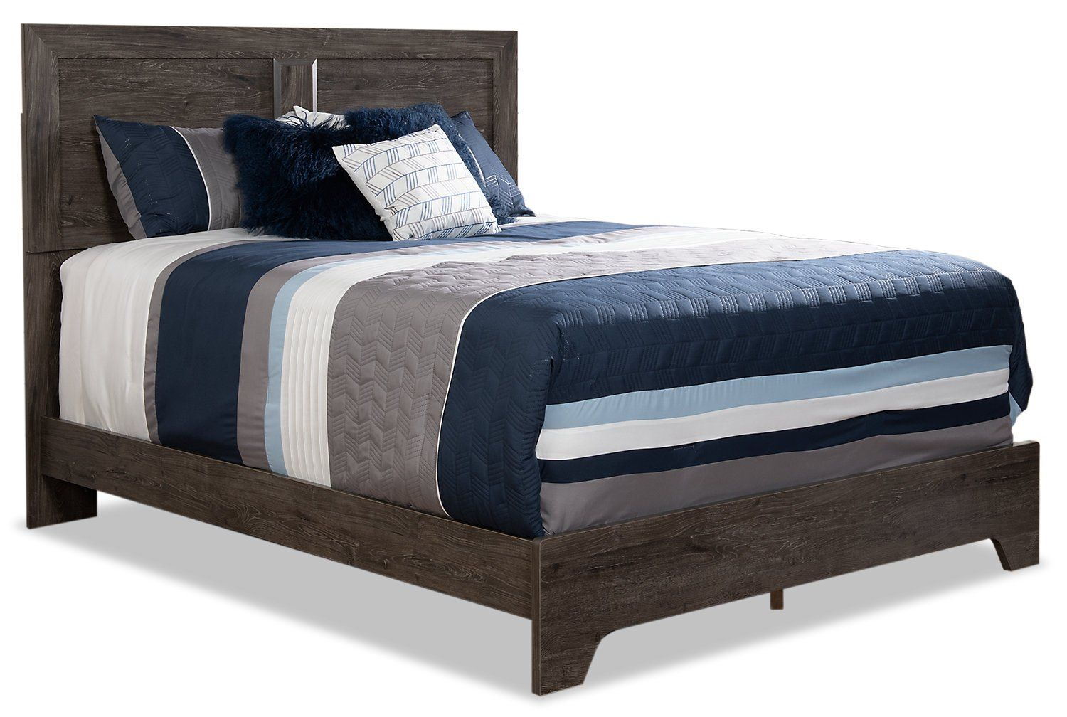 Yorkdale Grey Panel Bed Frame Queen Panel Bed Bed Bed Sizes