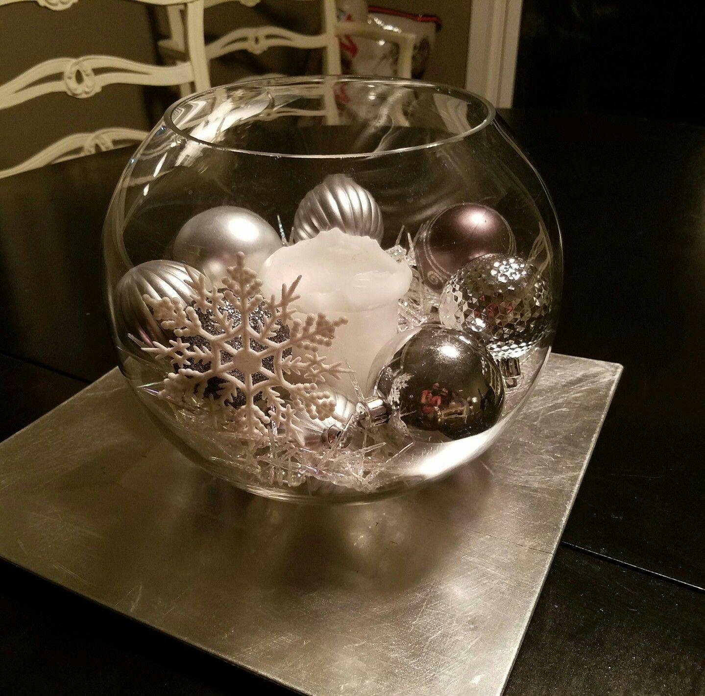 Fish Bowl Wedding Centrepiece Ideas: Christmas Fish Bowl Centerpiece