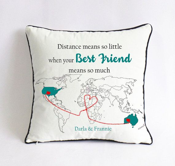 Long Distance Best Friend Pillow Cover Gift For Birthday Means So L