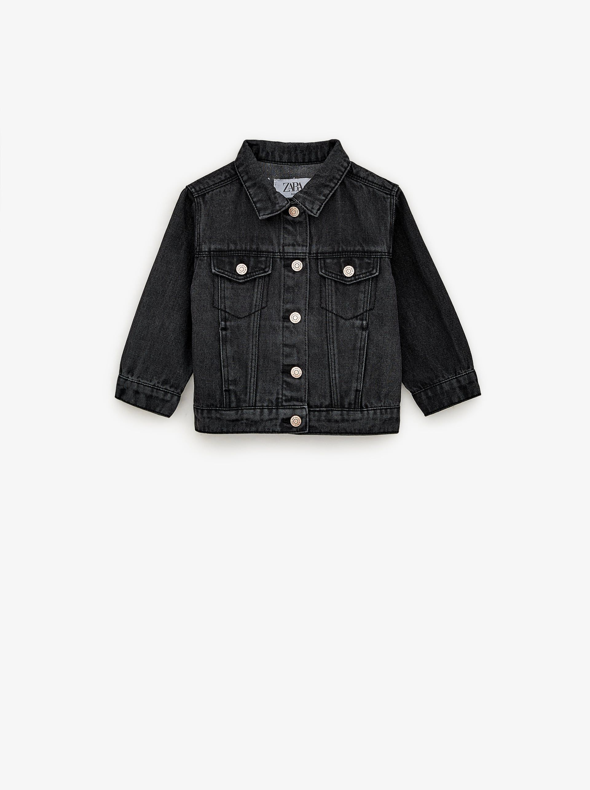 Basic Denim Jacket New In Baby Girl 3 Months 5 Years Kids Zara United States Denim Jacket Black Jeans Boys Jackets [ 2569 x 1920 Pixel ]