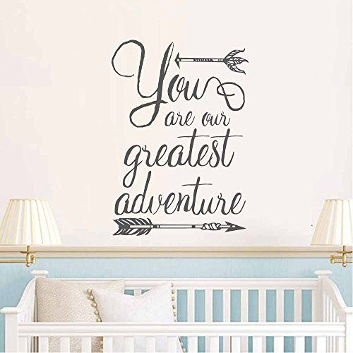Battoo Nursery Wall Decal Quote You Are Our Greatest Adventure Sayings Kids Room Bedroom Arrow