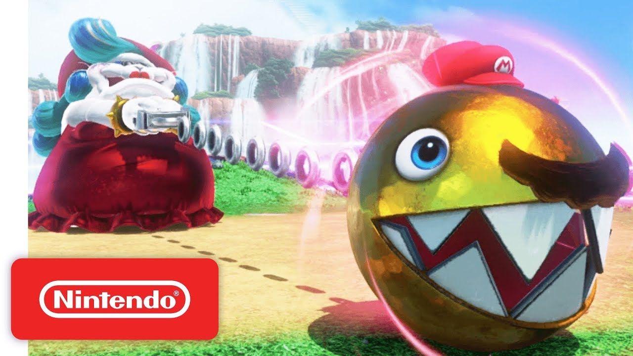 Super Mario Odyssey Trailer Meet Cappy Nintendo Switch Super Mario Odyssey Mario Odyssey Super Mario