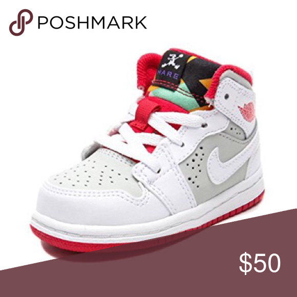 32b2b64043b Air Jordan 1 Mid WB Hare WHITE Red Sneaker Toddler Nike 719556-123 Air  Jordan 1 Mid WB Hare WHITE Red Sneaker Toddler-Baby Boy Girl Good condition  Used Size ...