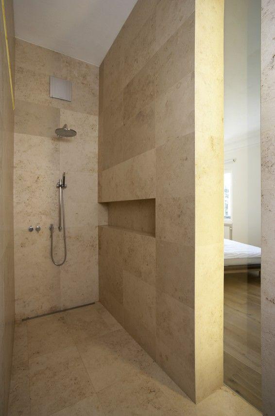 Berschneider + Berschneider, Architekten BDA + Innenarchitekten - wc fliesen beige