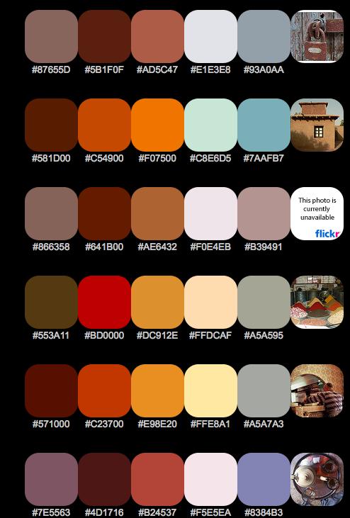 More Moroccan Color Palettes Schemes Colour Bedroom Colors