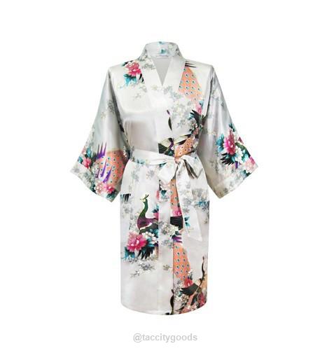 Satin Short Night Robe With Images Bridesmaid Robes