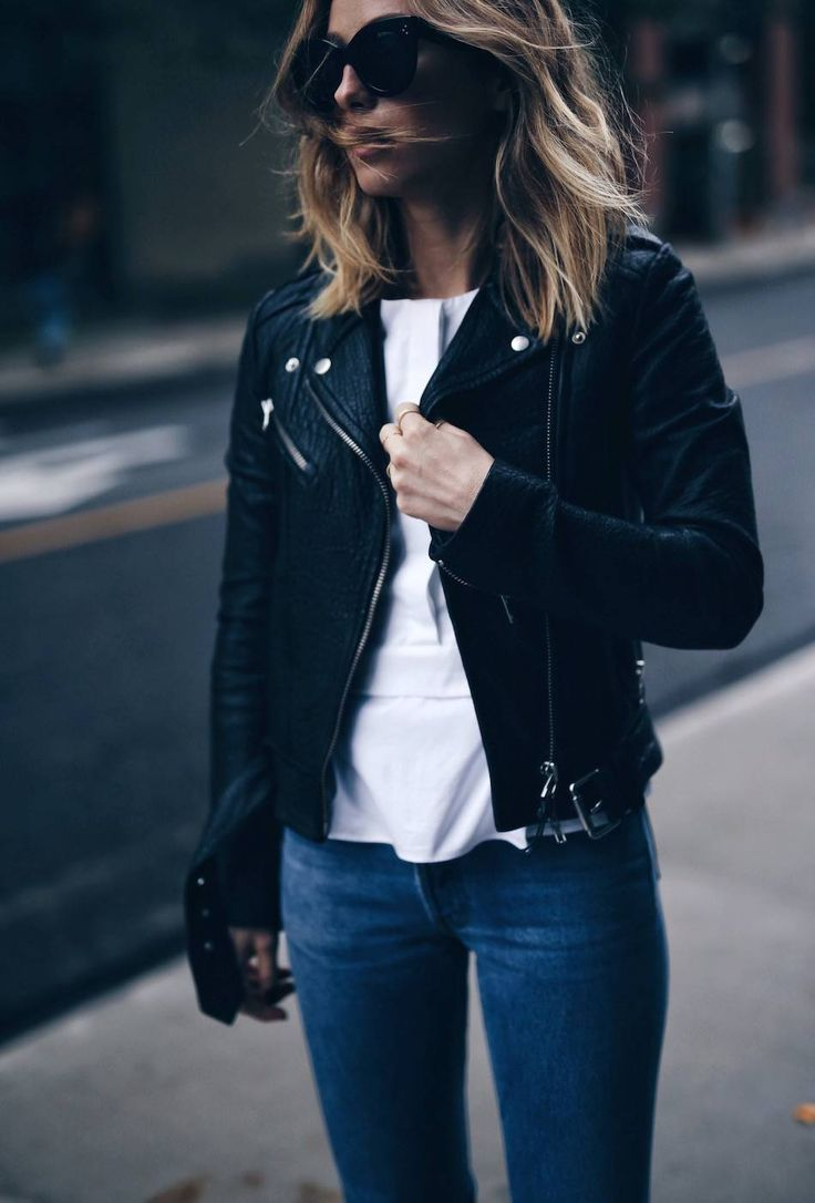 How To Buy The Perfect Leather Jacket The August Diaries Fashion Leather Jacket Style Leather Jacket Outfits [ 1086 x 736 Pixel ]