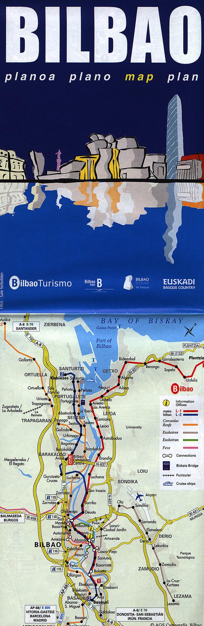 bilbao karta Bilbao planoa plano map plan; 2015_1, Bizkaia r., Euskadi/ Basque  bilbao karta