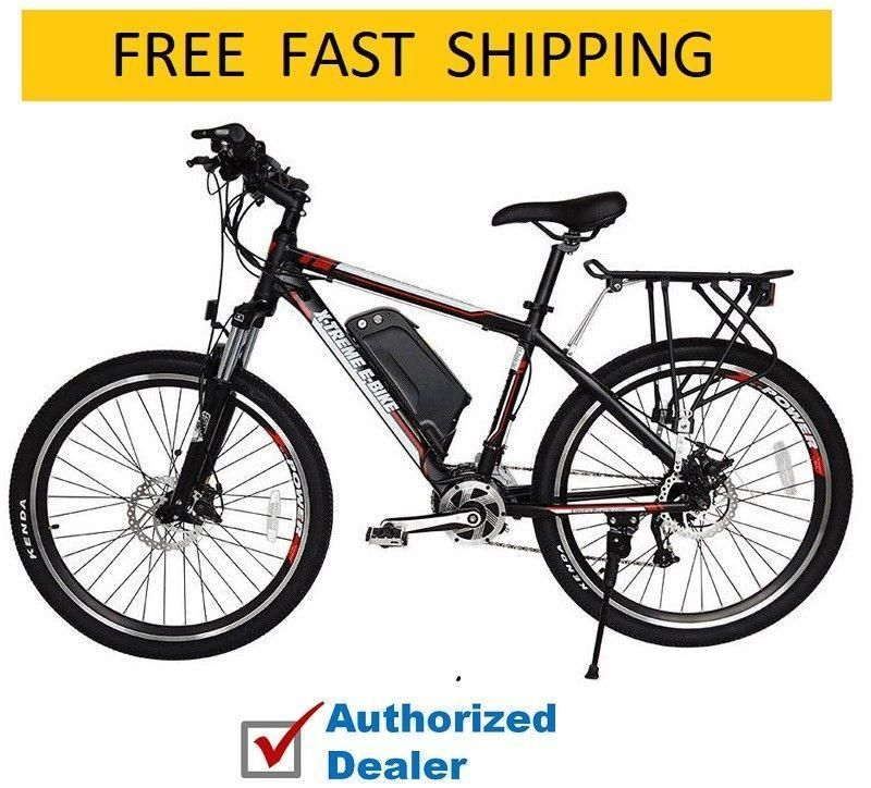 X Treme Rubicon 48 Volt High Power Long Range Electric Mountain Bicycle Bike Electric Mountain Bike Bicycle Electric Bicycle