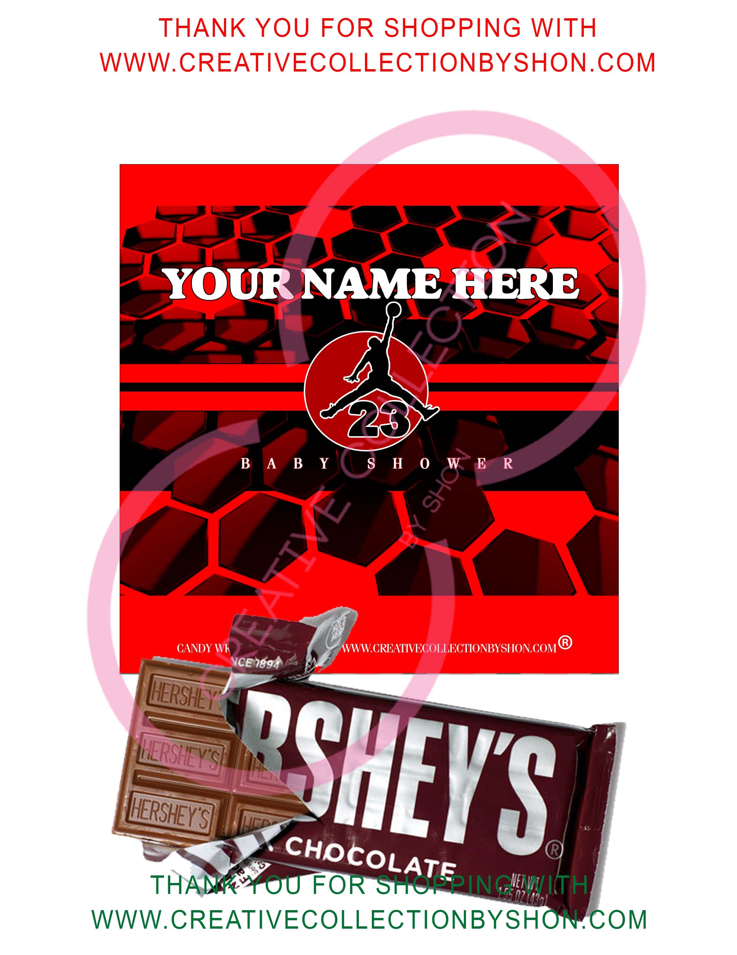 Jumpman Candy Bar Wrapper Customized Printable