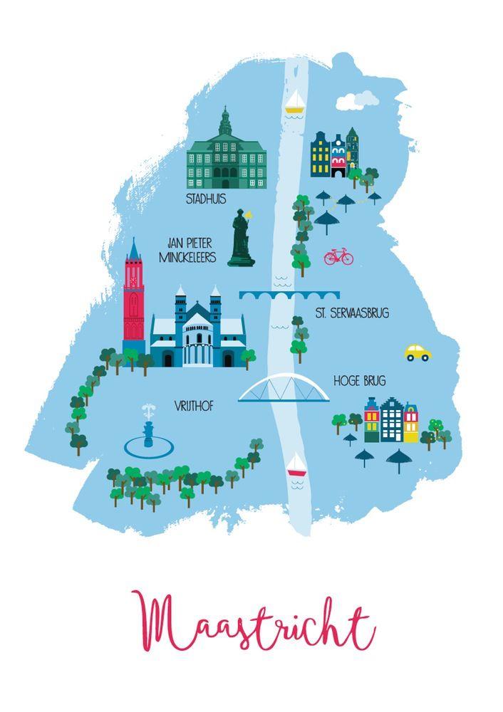 City map Maastricht by Cake Home Decor Pinterest Maastricht