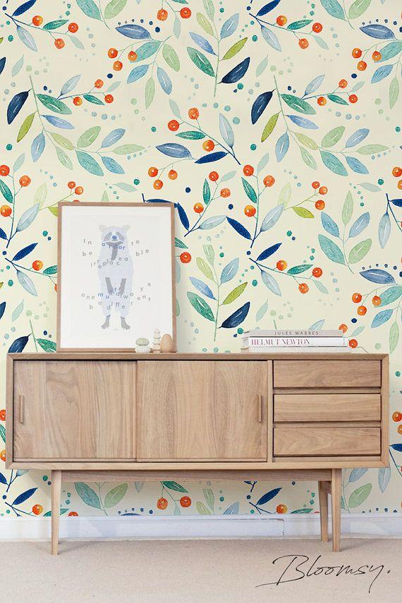 Removable wallpaper Mountain Ash Wallpaper Floral