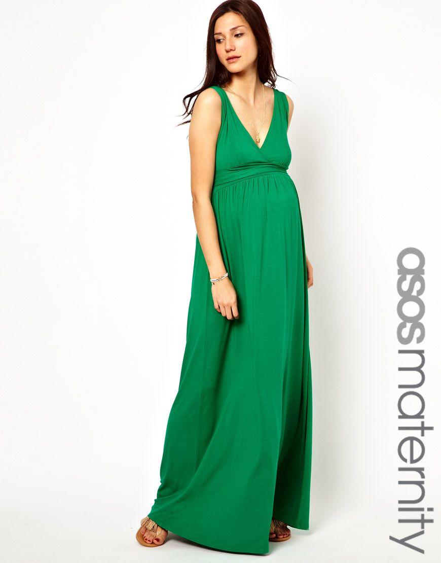 cecdf3059d1 ASOS Maternity Exclusive Maxi Dress with Grecian Drape