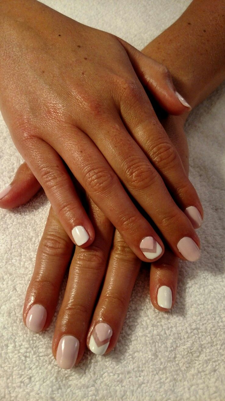CND Shellac Winters Glow and White   Perfectly Manicured!   Pinterest