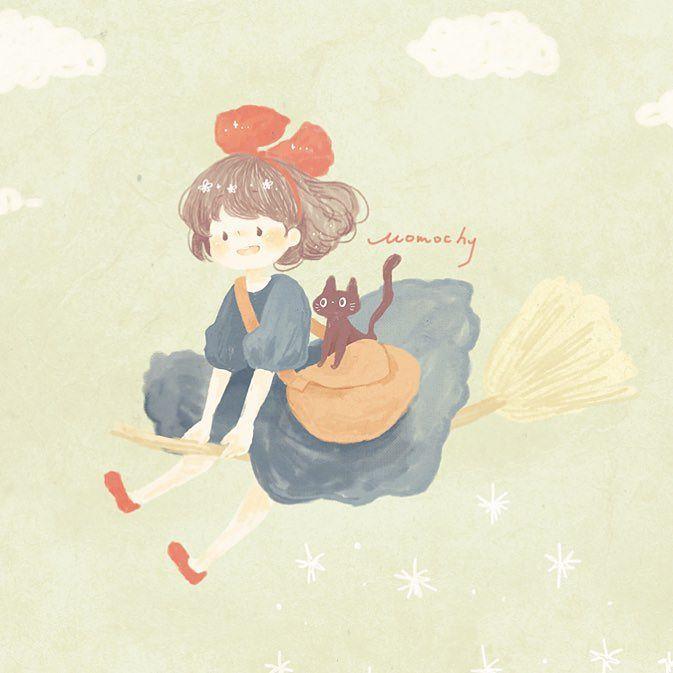 ジブリ 魔女の宅急便 Ghibli Illustration Draw 22日の地上波がとても楽しみです 魔女宅ひさしぶり By Momochy 魔女の宅急便 イラスト ジブリ イラスト 手書き