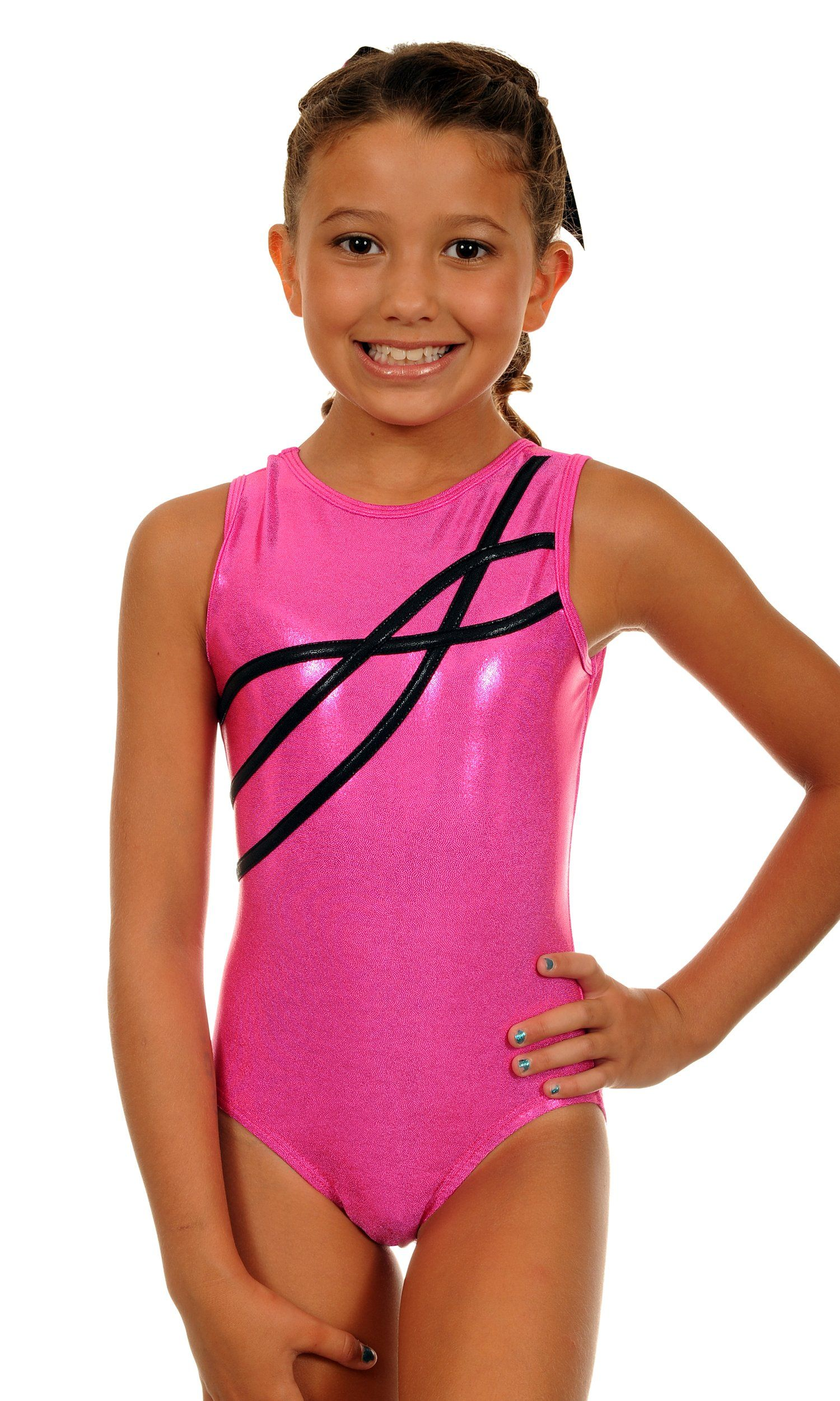 85fcfa2d8b7e TW Big Girl's Leotard Sophia | Hot Pink Sparkle-Child:7-8 ...
