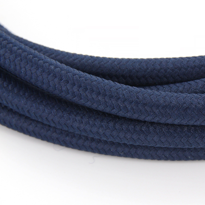 Cable Textile Soie Bleu Marine Ho3vv F 2x0 75mm2 3m Chacon Bleu Marine Textiles Et Bleu