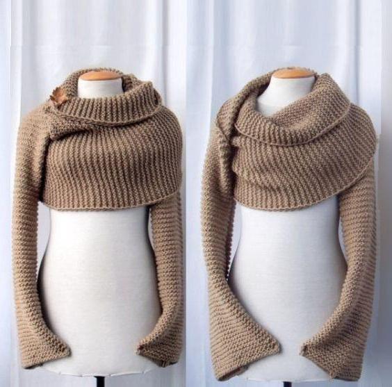 Из чего связать шарф трансформер своими руками