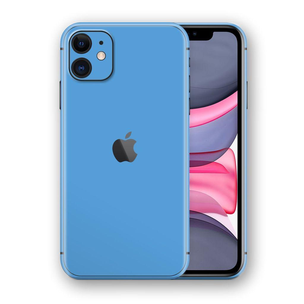 Iphone 11 Glossy Sky Blue Skin Iphone Iphone 11 Iphone Phone Cases