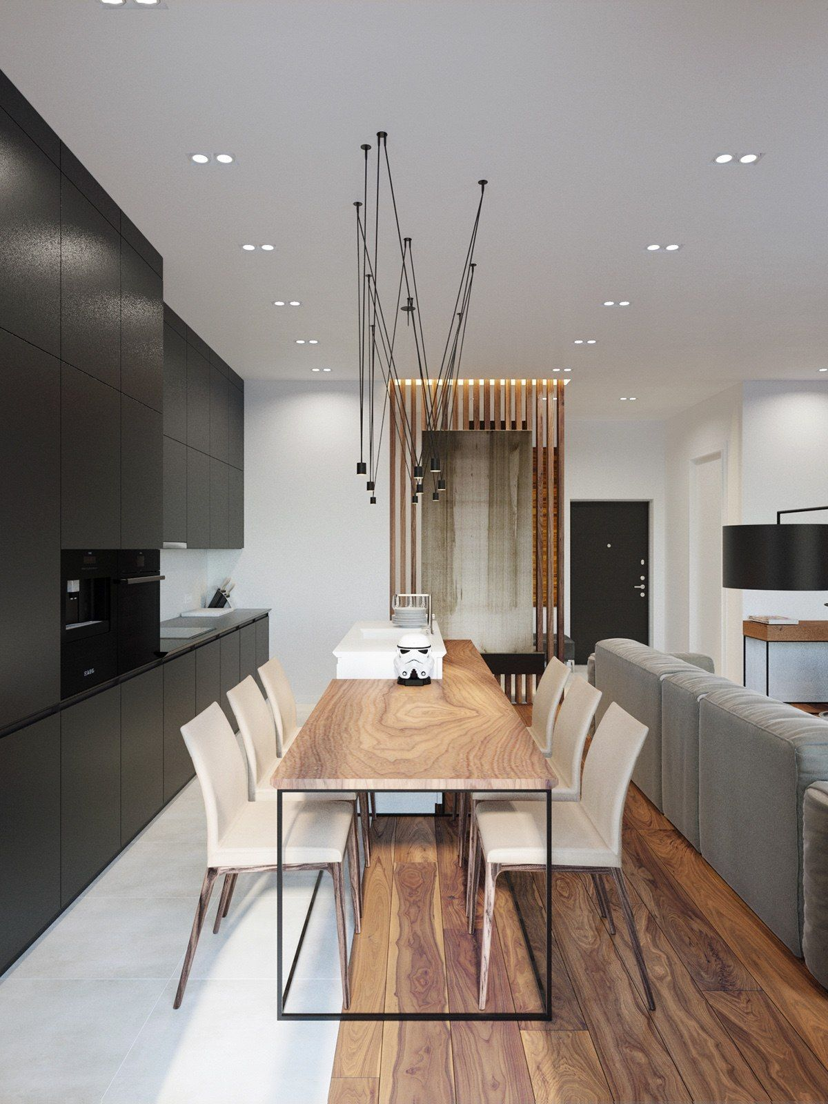 Applying a rustic studio apartment design which decor by for Minimalistische wohnungseinrichtung