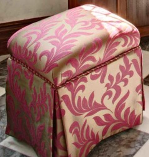 Ottoman •~• gold & pink