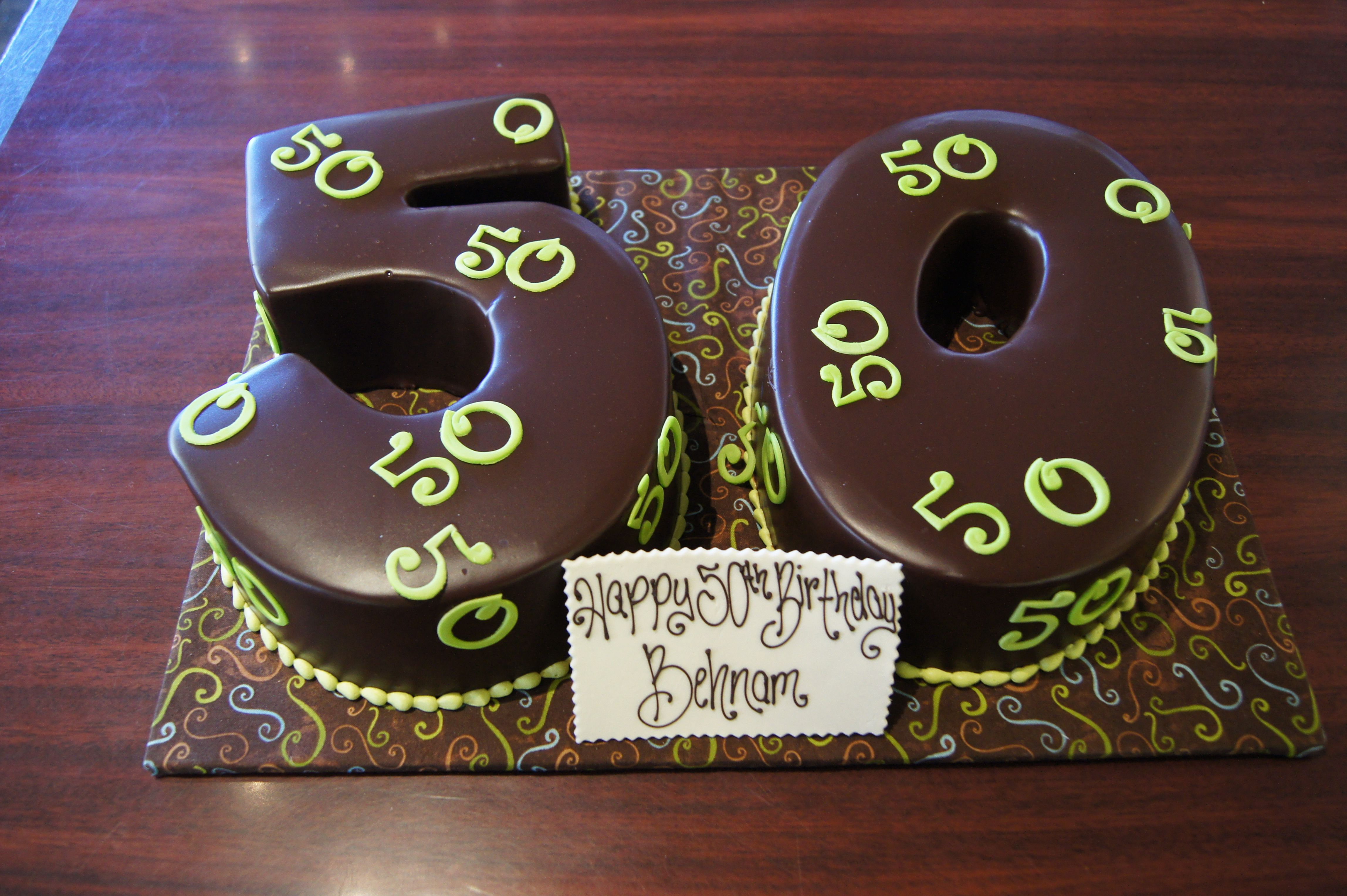 Magnificent Number 50 Shaped Chocolate Birthday Cakes With Neon Green Personalised Birthday Cards Sponlily Jamesorg