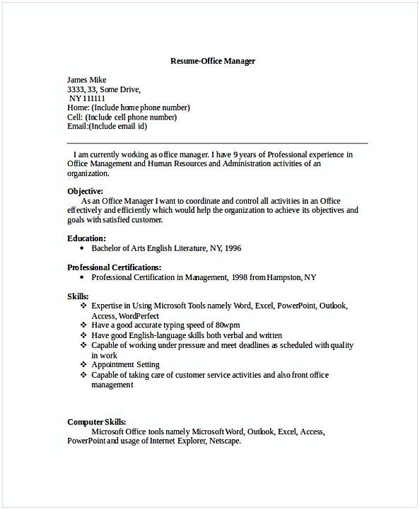 Front Office Manager Resume Resume For Manager Position Many Of Us Interested In Being Manager If You Are The One We Kindly Suggest You Read This Steps To