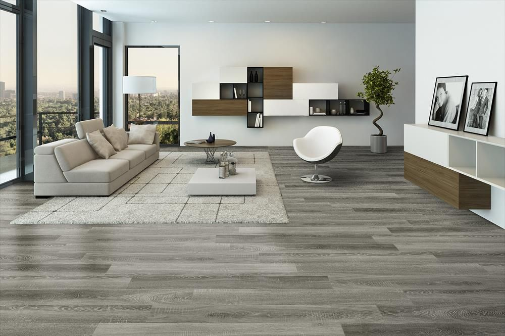 Builddirect laminate 15mm english country collection sherwood oak living room view for Laminate flooring for living room