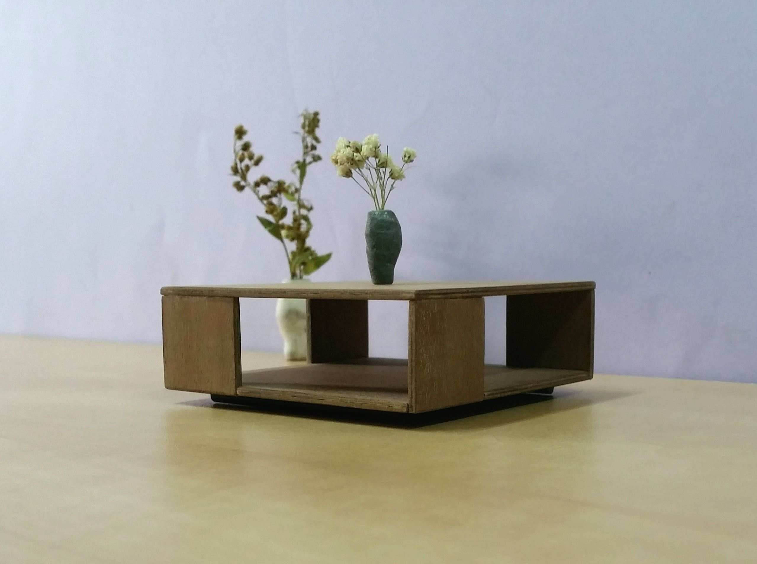 Groundpiece Square Low Table 1 12 Scale Model Collectible Miniature Furniture Modern Desig Contemporary Coffee Table Coffee Table Square Coffee Table Design