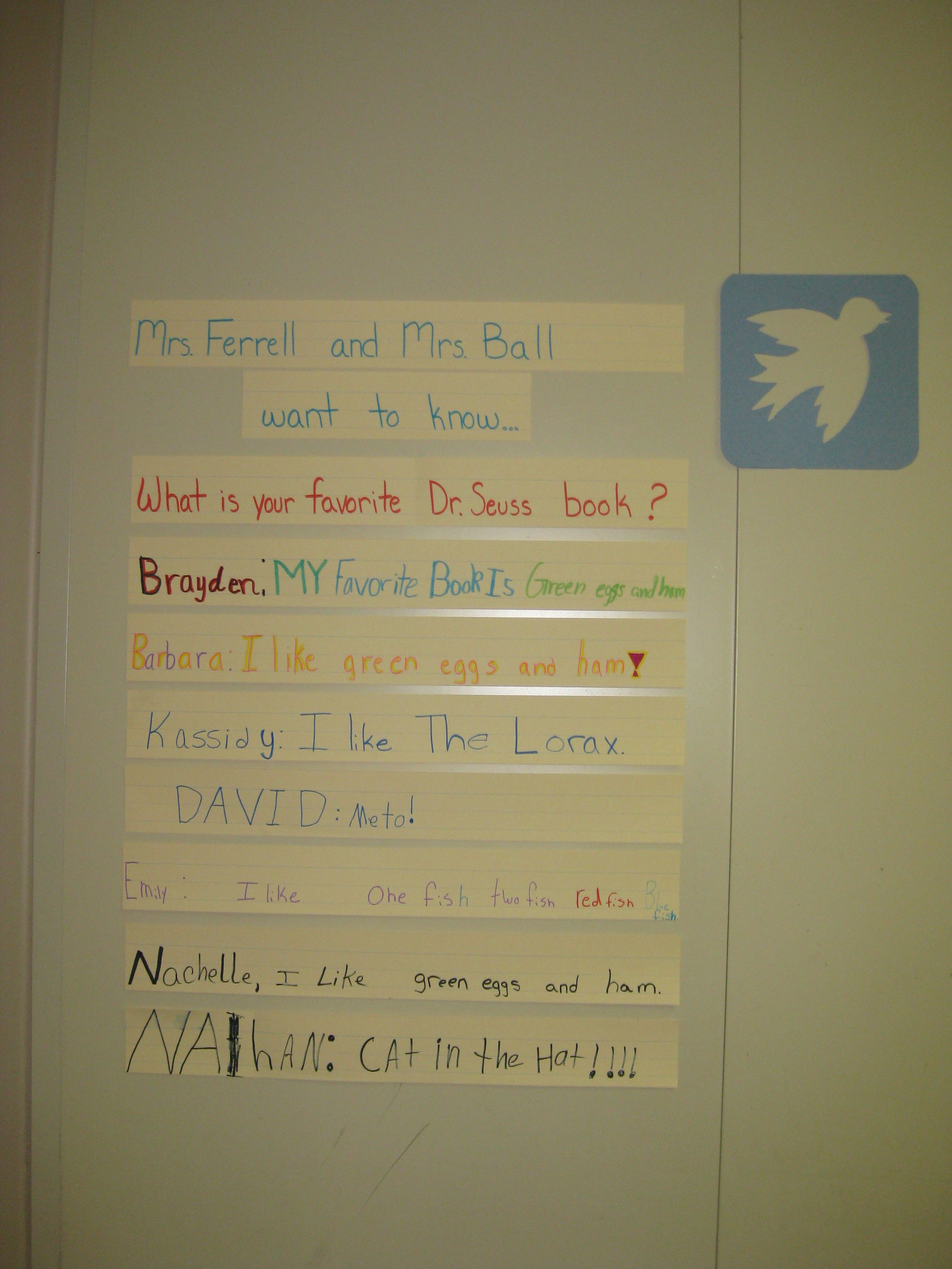 Classroom Twitter Board Teachers Can Pose Different