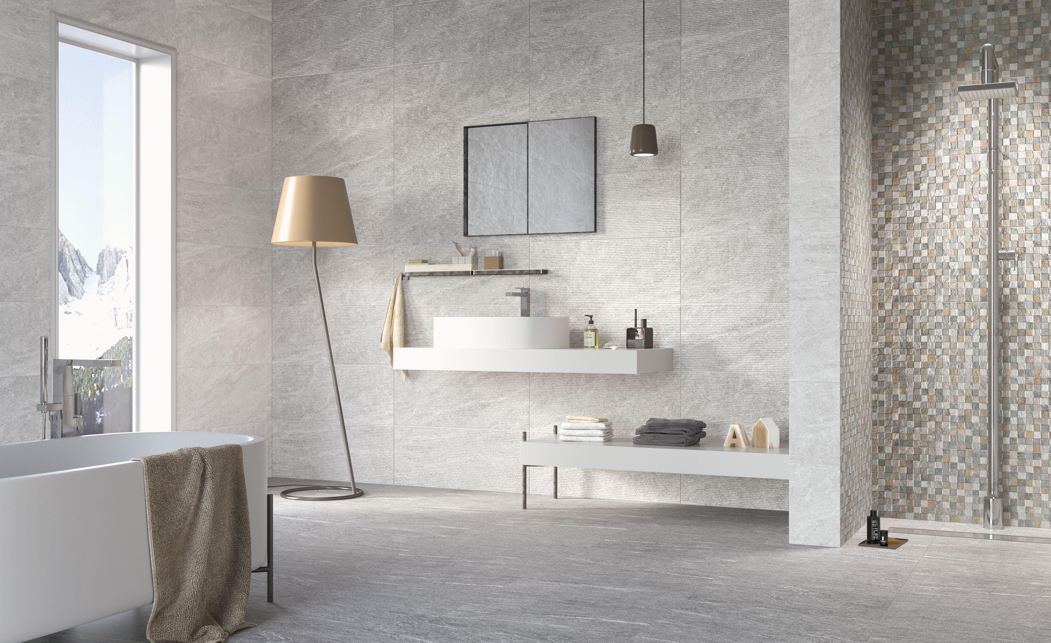 Carrelage intérieur effet pierre 60x60 Silver Naturel Rectifié ...