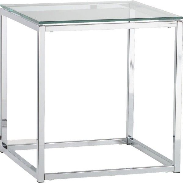 Cb2 Smart Glass Top Side Table 149 Liked On Polyvore Featuring