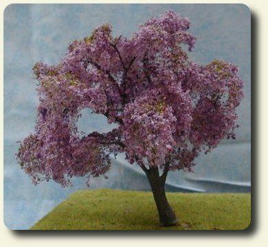 1 12 Scale Cherry Blossom Tree Miniature Garden Scene Design Cherry Blossom Tree