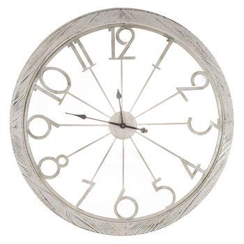 Distressed White Metal Wall Clock Hobby Lobby 1485176 In 2020 White Wall Clocks Galvanized Metal Wall Clock Large White Clock
